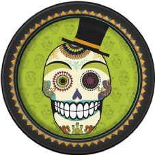 8 Day Of The Dead 'Beware' Paper Party Plates